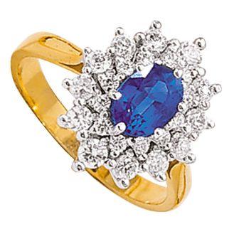 Saphir serti de diamants