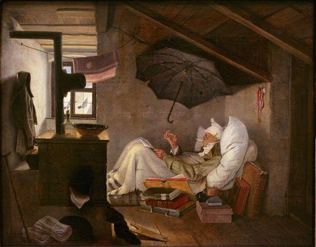 Le pauvre poète, Carl Spitzweg (1839)
