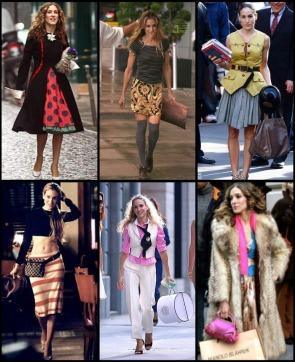 Les nombreux vêtements stylés de Carrie Bradshaw