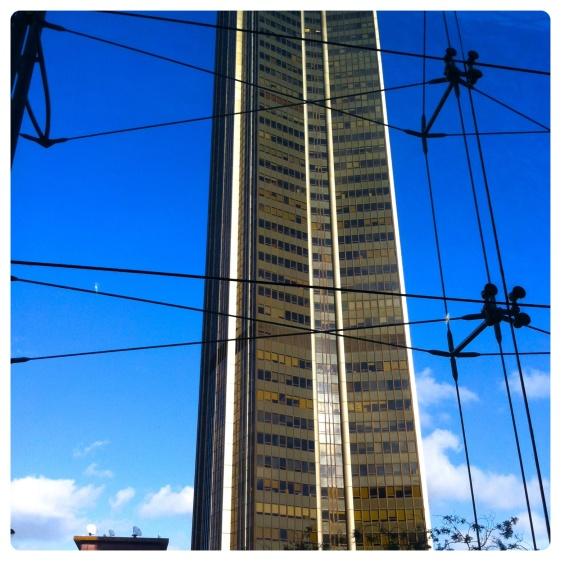 La tour Montparnasse vue du 1er étage de la gare Montparnasse